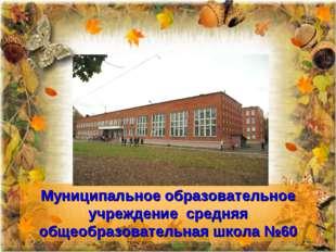 Муниципальное образовательное учреждение средняя общеобразовательная школа №60