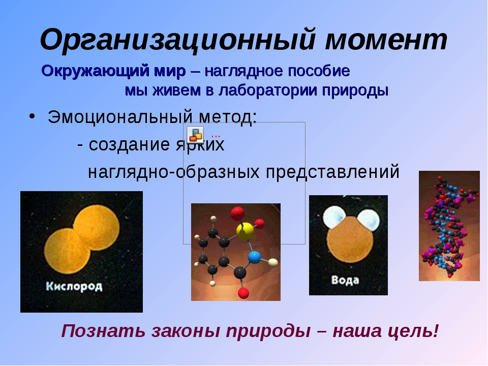 Организационный момент Эмоциональный метод: - создание ярких наглядно-образны...