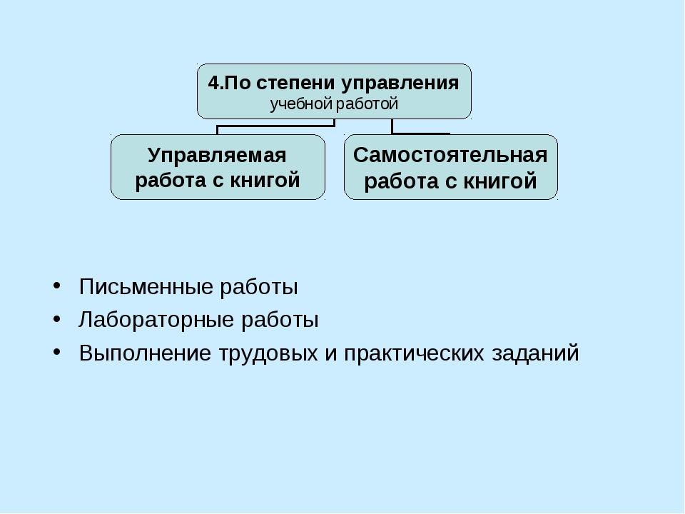 Письменные работы Лабораторные работы Выполнение трудовых и практических зада...