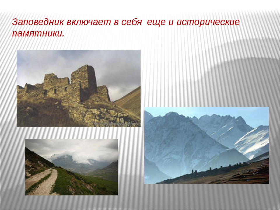 Заповедник включает в себя еще и исторические памятники.