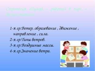 Стратегия «Думай – работай в паре – делись опытом» 1-я гр.Ветер, образование