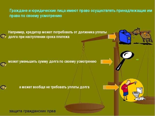 Граждане и юридические лица имеют право осуществлять принадлежащие им права п...