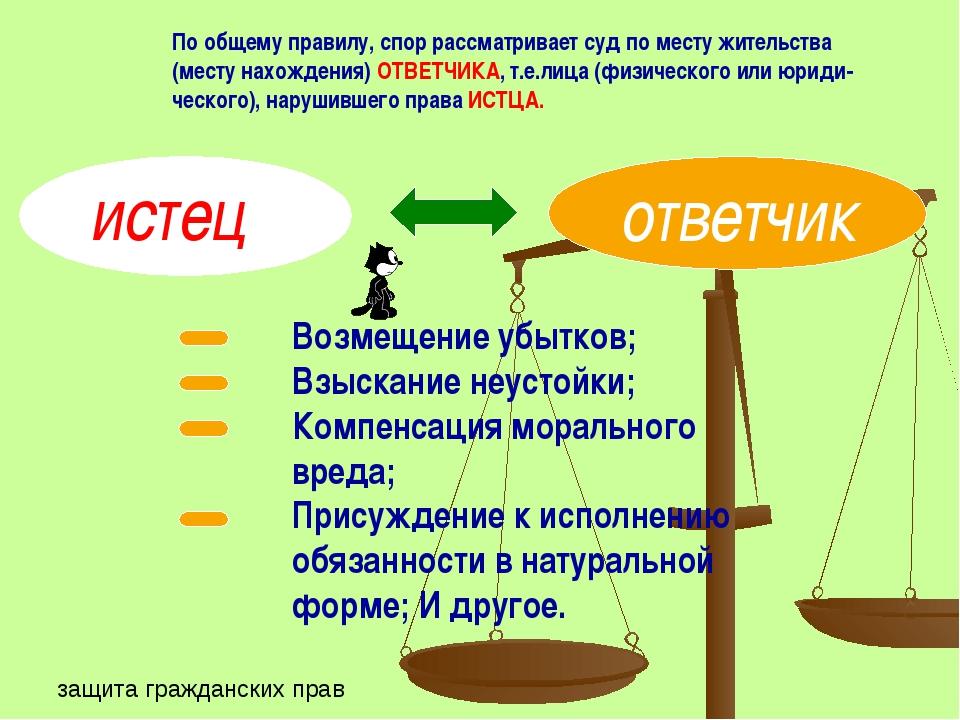По общему правилу, спор рассматривает суд по месту жительства (месту нахожден...