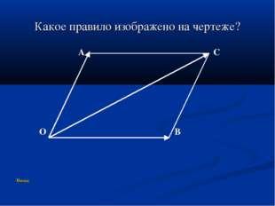 Какое правило изображено на чертеже? A C O B Назад