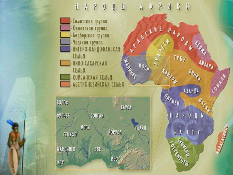 Карта народы Африки
