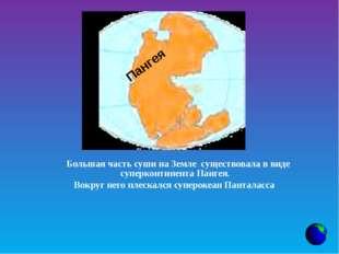 Большая часть суши на Земле существовала в виде суперконтинента Пангея.