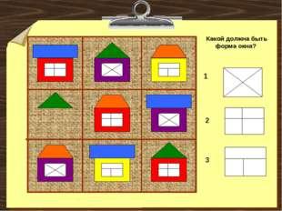 Какой должна быть форма окна? 1 2 3