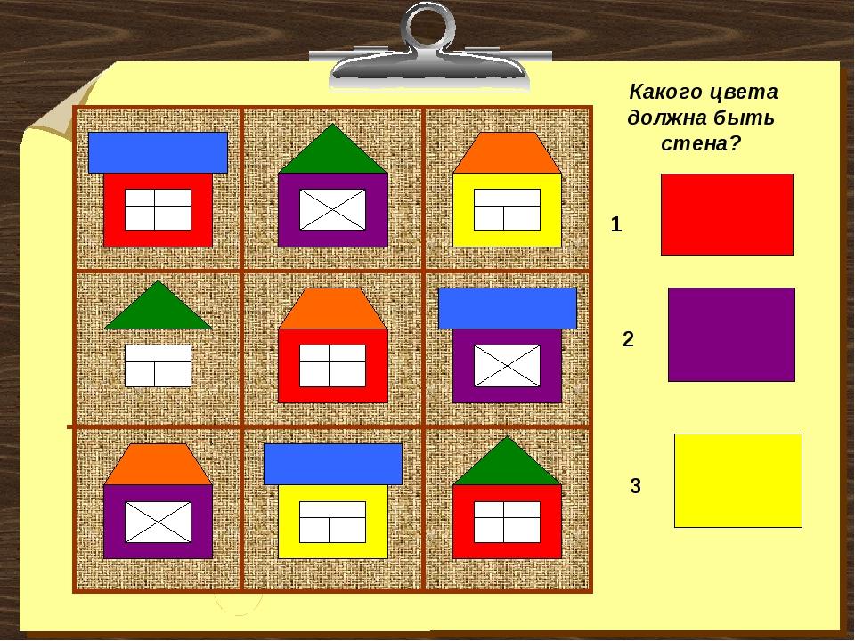 Какого цвета должна быть стена? 1 2 3