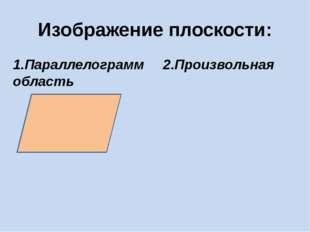 Изображение плоскости: 1.Параллелограмм 2.Произвольная область