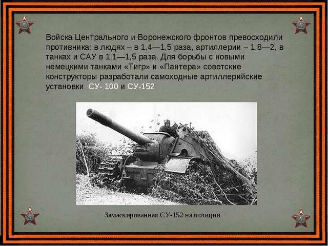 Войска Центрального и Воронежского фронтов превосходили противника: в людях –...