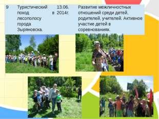 9 Туристический поход в лесополосу города Зыряновска. 13.06. 2014г. Развитие