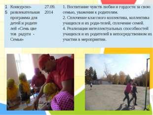 15 Конкурсно-развлекательная программа длядетей и родите лей «Семьцветов ра