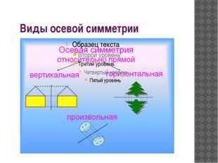 Виды осевой симметрии
