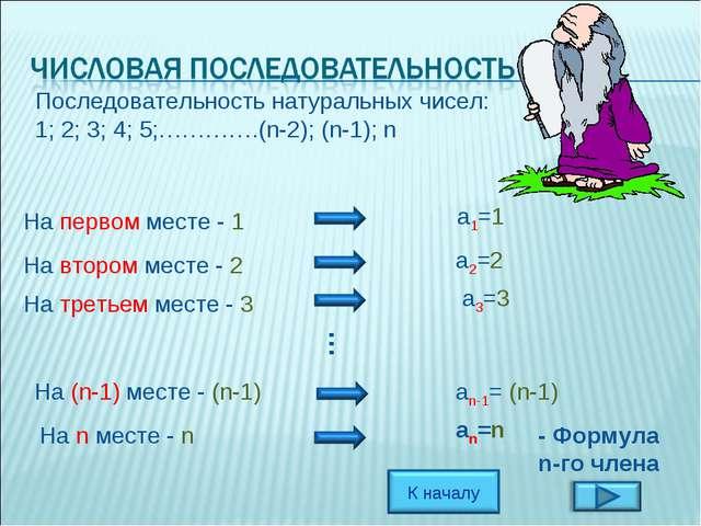 Последовательность натуральных чисел: 1; 2; 3; 4; 5;………….(n-2); (n-1); n На п...