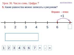 1 3 2 4 МАТЕМАТИКА 1 2 3 4 + - = 5. Какие равенства можно записать к рисункам