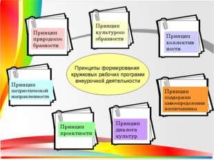 Принципы формирования кружковых рабочих программ внеурочной деятельности Прин