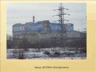 Завод «ВОЛМА-Воскресенск»