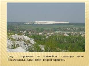 Вид с террикона на залинейную сельскую часть Воскресенска. Вдали виден второй