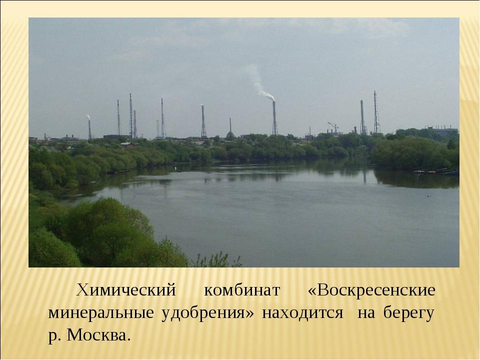 Химический комбинат «Воскресенские минеральные удобрения» находится на берег...