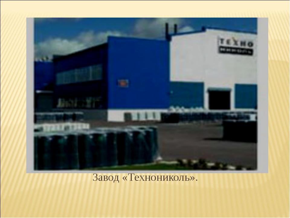 Завод «Технониколь».