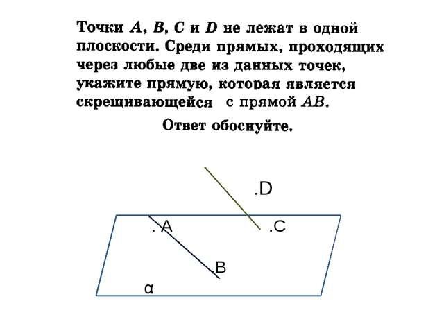. А .C .B α .D