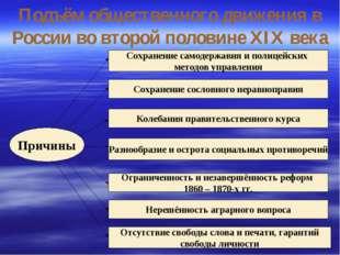 Подъём общественного движения в России во второй половине XIX века Причины Со