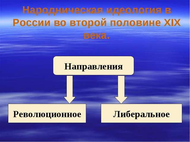 Народническая идеология в России во второй половине XIX века. Направления Рев...