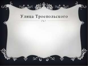 Улица Троепольского