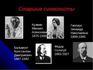 Старшие символисты Гиппиус Зинаида Николаевна 1869-1945 Бальмонт Константин Д
