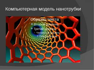 Компьютерная модель нанотрубки