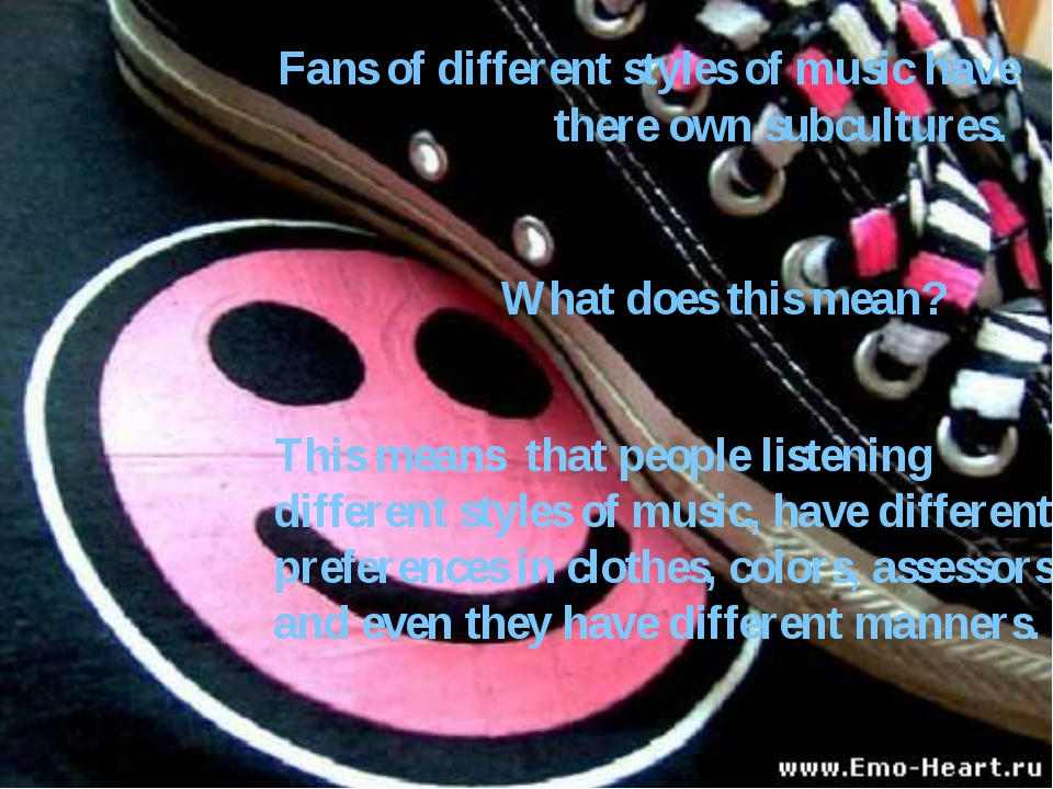 This means that people listening different styles of music, have different pr...