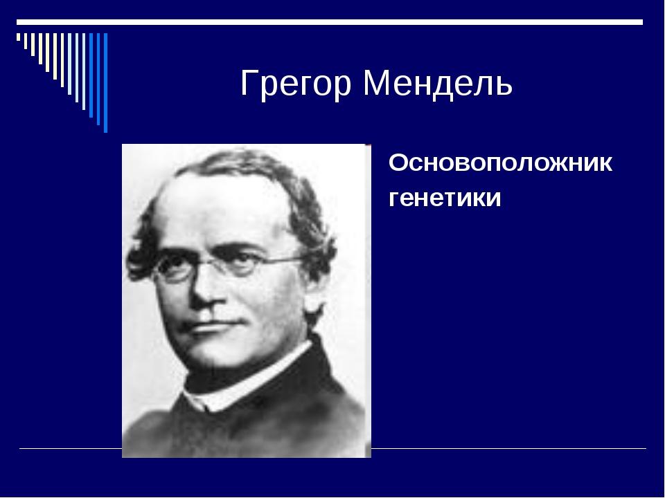 Грегор Мендель Основоположник генетики