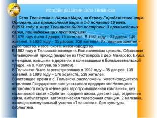 История развития села Тельвиска Село Тельвиска г. Нарьян-Мара, на берегу Горо