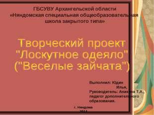 ГБСУВУ Архангельской области «Няндомская специальная общеобразовательная школ