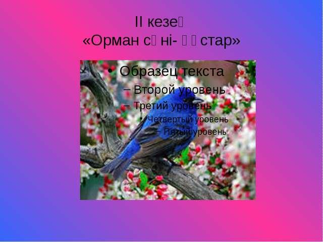 ІІ кезең «Орман сәні- құстар»