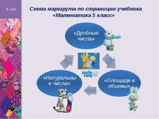 Схема маршрута по страницам учебника «Математика 5 класс» 5 «Л» «Дробные чис
