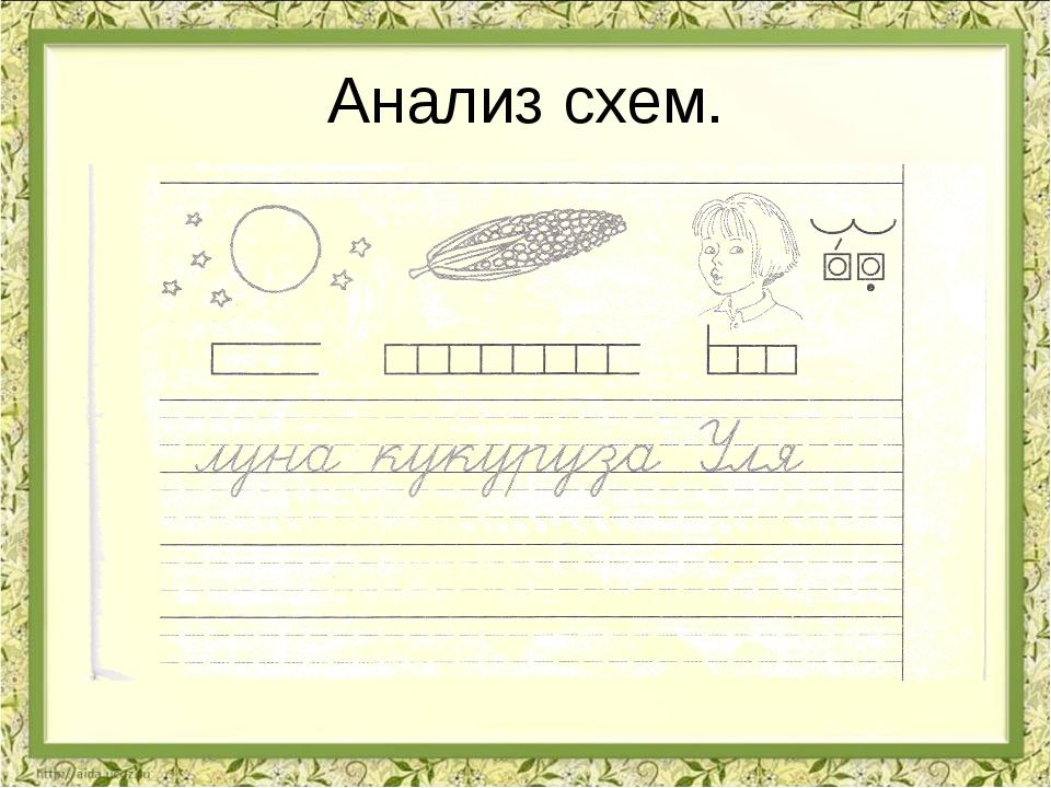 Анализ схем.