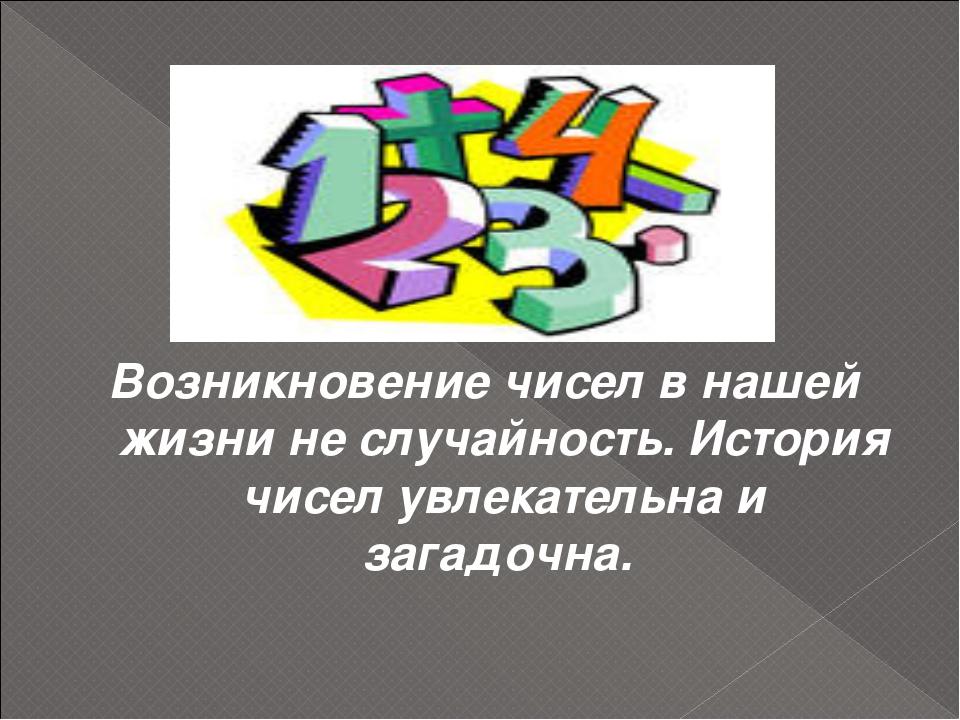 Возникновение чисел в нашей жизни не случайность. История чисел увлекательна...