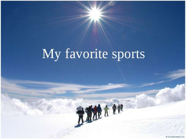 My favorite sports