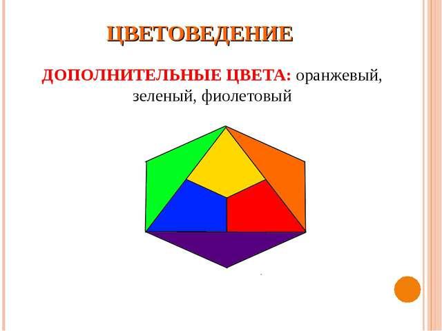ЦВЕТОВЕДЕНИЕ ДОПОЛНИТЕЛЬНЫЕ ЦВЕТА: оранжевый, зеленый, фиолетовый
