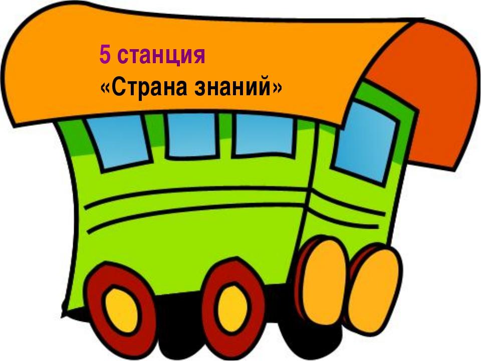 5 станция «Страна знаний»