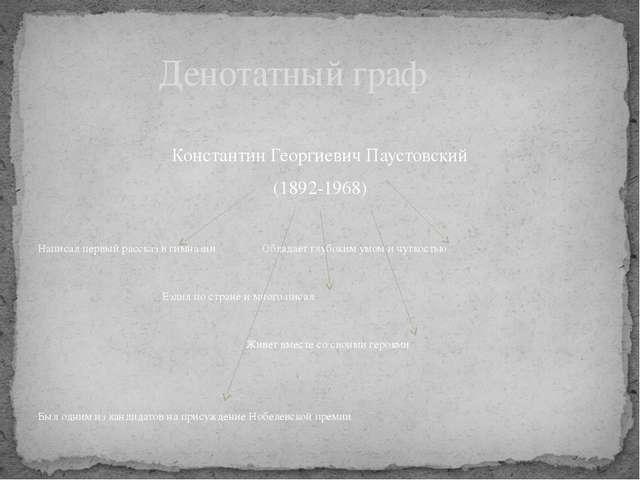 Константин Георгиевич Паустовский (1892-1968) Написал первый рассказ в гимна...
