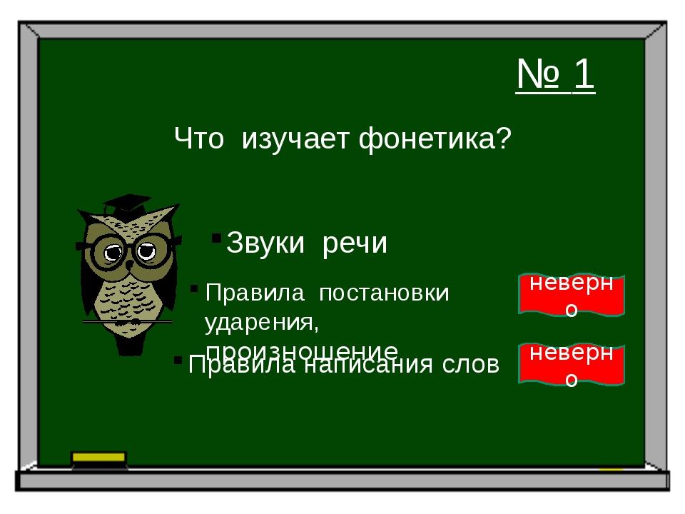 Что изучает фонетика? Звуки речи Правила постановки ударения, произношение Пр...