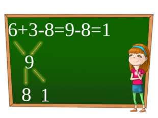 6+3-8=9-8=1 1 9 8 Обработка и подсчет результатов реализованы с помощью макро