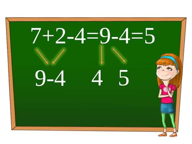 7+2-4=9-4=5 5 9-4 4 Обработка и подсчет результатов реализованы с помощью мак...