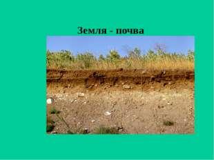 Земля - почва