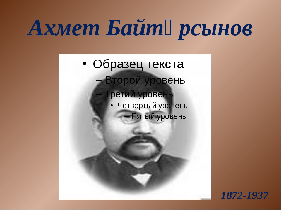 Ахмет Байтұрсынов 1872-1937