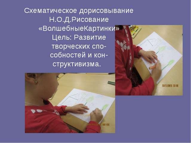 Схематическое дорисовывание Н.О.Д.Рисование «ВолшебныеКартинки» Цель: Развити...