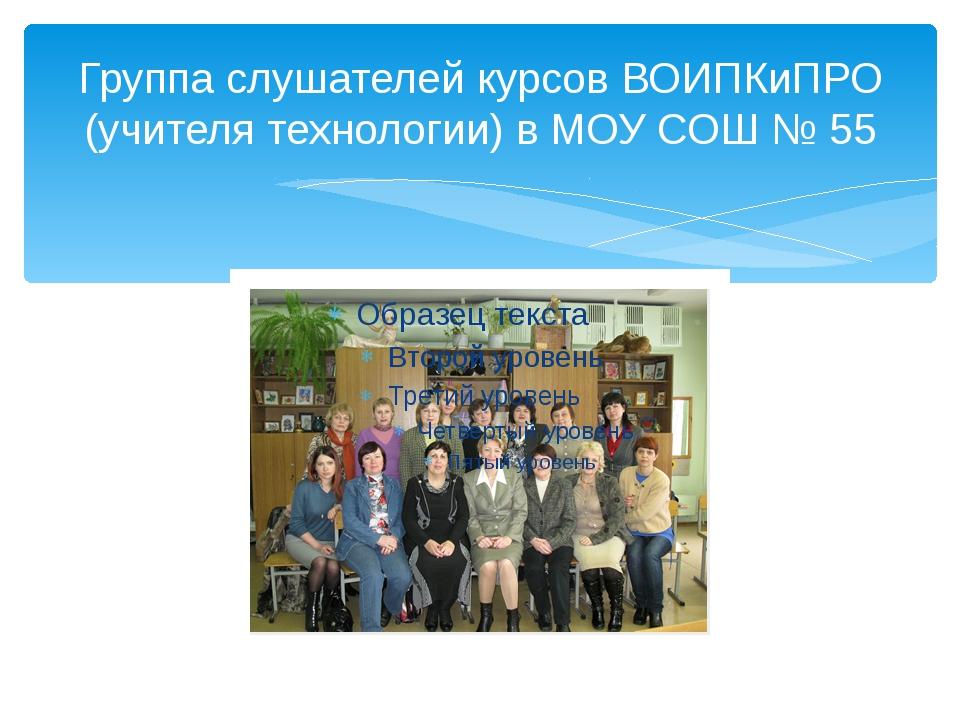 Группа слушателей курсов ВОИПКиПРО (учителя технологии) в МОУ СОШ № 55
