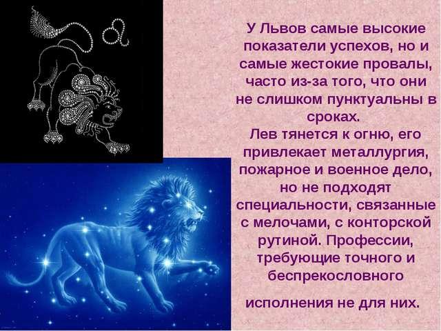 У Львов самые высокие показатели успехов, но и самые жестокие провалы, часто...